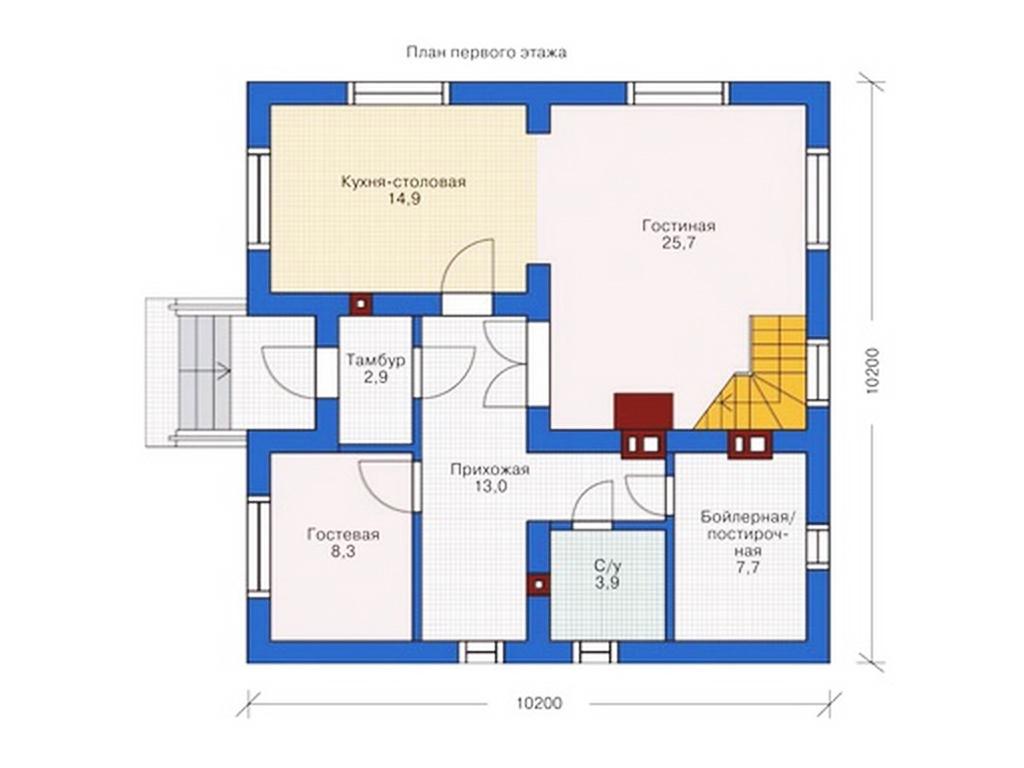 Планировки 1 этажных домов фото